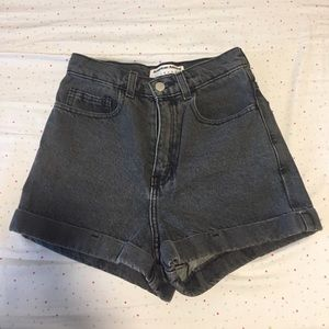 High-Waisted Denim AA Shorts